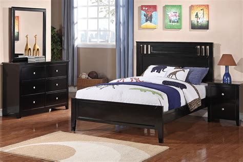 black full size bedroom set furniture minimalist high floating bed frame and matching