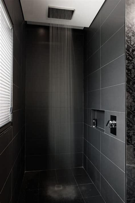 Black Shower by Shower Bathroom Modern With Headed Shower