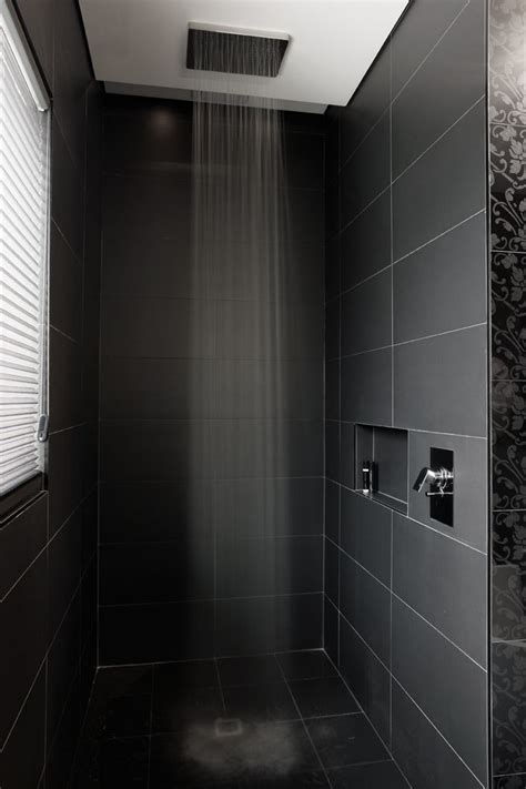 rain shower head Bathroom Modern with double headed shower
