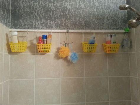 curtain caddy diy shower caddy dollar store buckets zip ties shwr