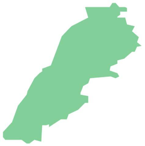 geo map asia lebanon