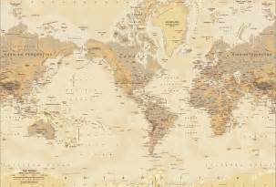 map of the world wall mural tan world map map wall mural