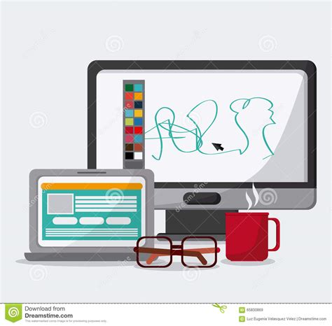icon design office office icons design stock vector image 65830869