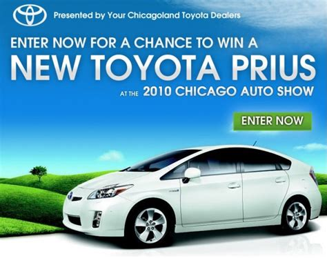 Toyota Prius Giveaway - toyota dealers to give away 2010 prius at chicago auto show