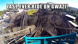 Bush Garden Rides by Last Ride On Gwazi Roller Coaster For Tpr Busch