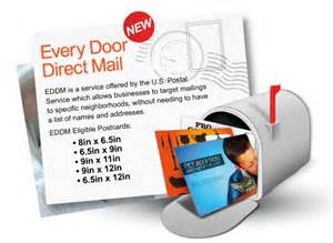 usps every door direct mail template eddm