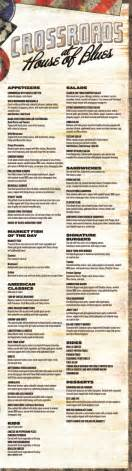 House Of Blues Orlando Menu by Crossroads At House Of Blues Myrtle Crossroads At