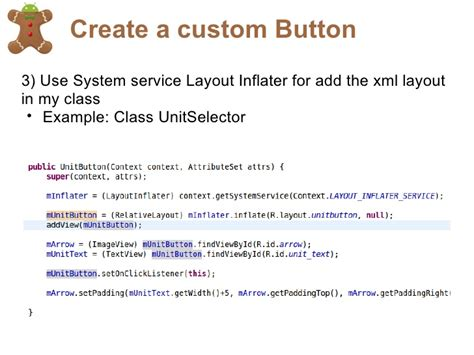 layout inflater service create a sexy android application
