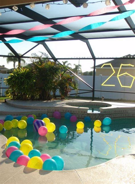 pool party decorations pool party decor float balloons in the pool party