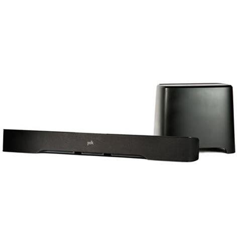 Ink Duke Solid2visor polk audio universal sound bar with wireless subwoofer bluetooth black from adorama for