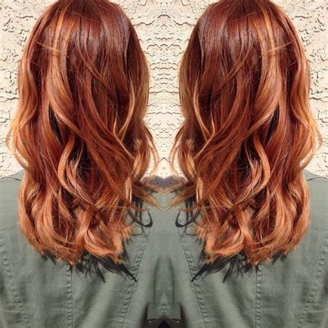 auburn copper hair color the 25 best red hair with highlights ideas on pinterest