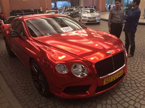 red chrome bentley chrome red bentley gt looks intangible in dubai
