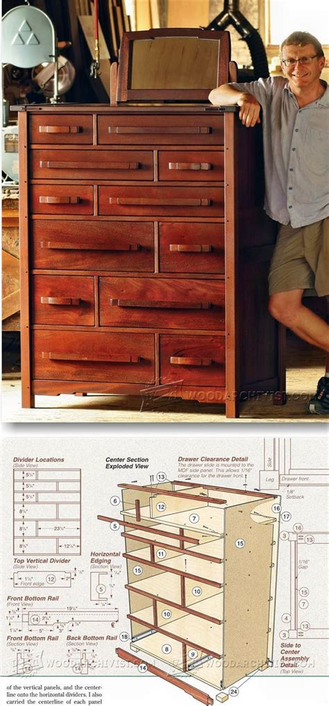 dresser plans furniture plans and projects