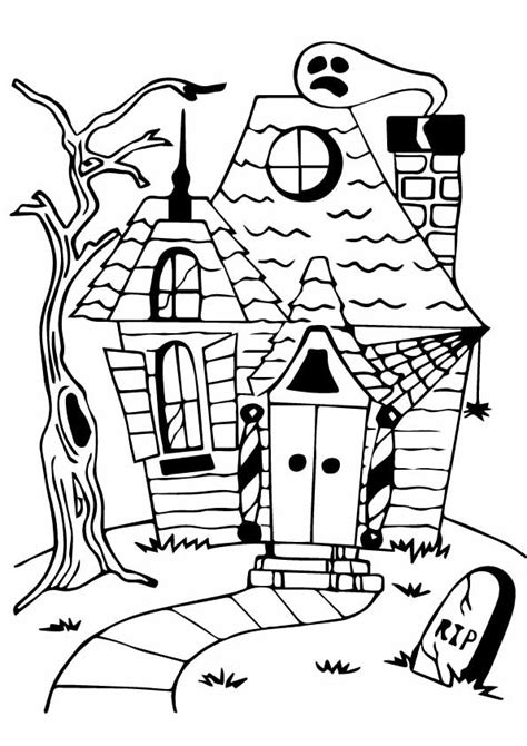 haunted house coloring pages hut coloring haunted house pages coloringstar grig3 org