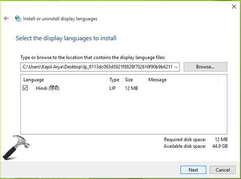 install windows 10 language pack fix cannot install language packs in windows 10