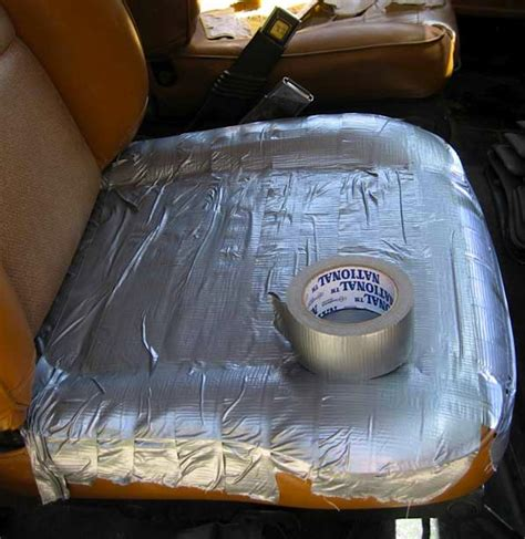 upholstery car seats repair top 10 duct tape diy upholstery disasters