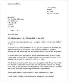 Template Letter Complaint On Health Care Complaint Letter Sle