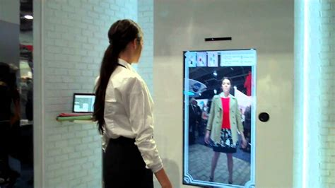 The Technology To Hit The Fitting Rooms Interactive Mirrors by Toshiba 3d Dressing Room
