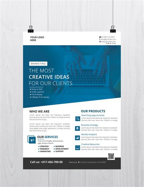 25 Free Business Flyer Templates For Photoshop Mashtrelo Business Flyer Template