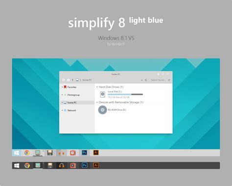 visual themes for windows 8 1 simplify 8 light blue windows 8 1 vs by dpcdpc11 on