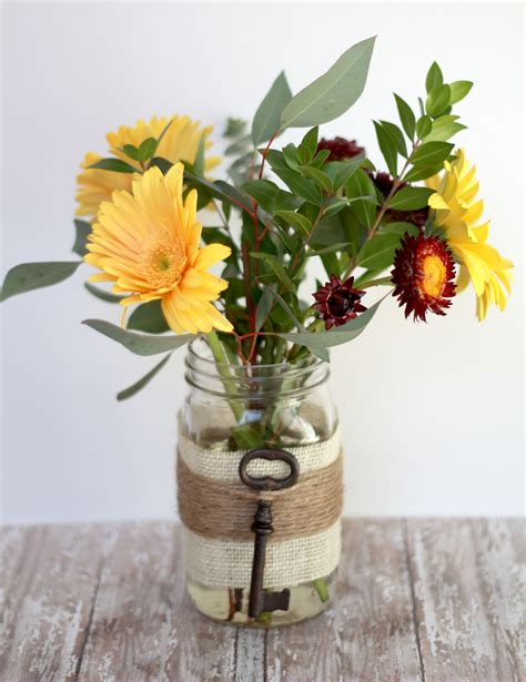 Mason Jar Vases Wedding Embellished Mason Jar Vase