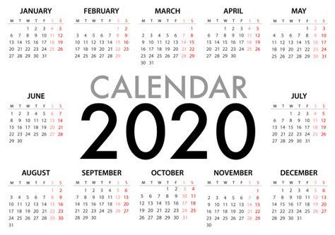 calendar   week starts monday simple design template vector premium