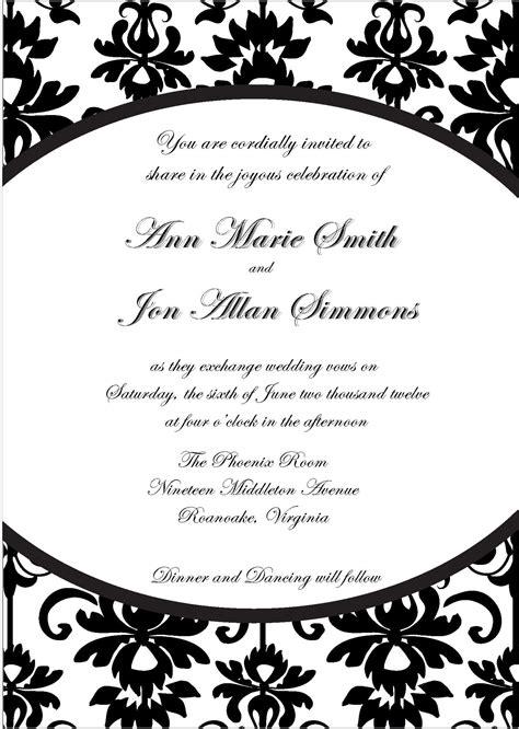 blank invitation templates  word