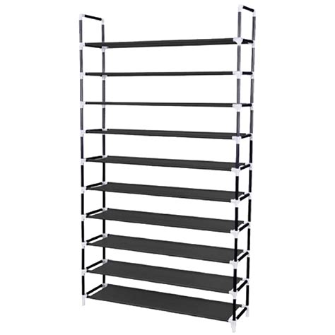 Large Shoe Rack by Large Capacity And Assembled Neat 10 Tier Non Wowen