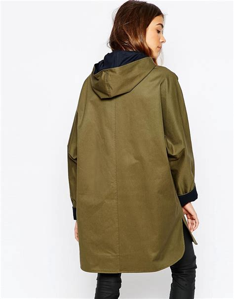swing jacket sessun sessun hooded swing jacket at asos