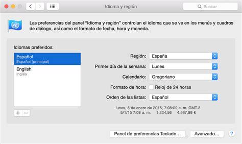 cambiar barra superior mac cambiar el idioma que aparece en itunes soporte t 233 cnico