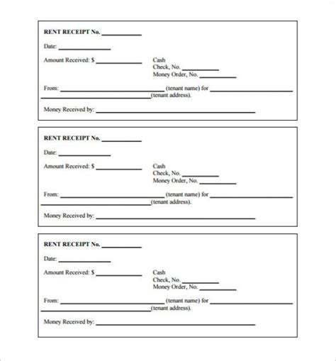 Blank Receipt Template Microsoft Word by Free Receipt Template Word Pdf Doc Printable Calendar