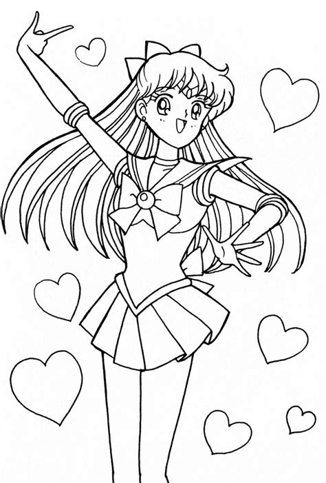 Sailor Venus Coloring Pages 1000 images about coloring sheet on pretty