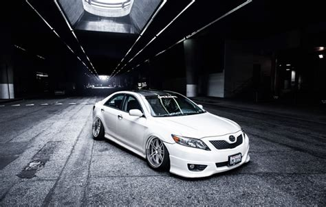 Toyota Camry Stance Wallpaper White Camry Toyota Camry Tuning White