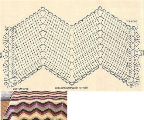 zig zag crochet pattern chart crochet chart for wavy bedspread pattern pattern crochet