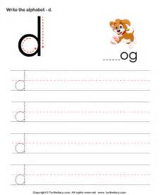 lowercase alphabet writing practice d worksheet turtle diary