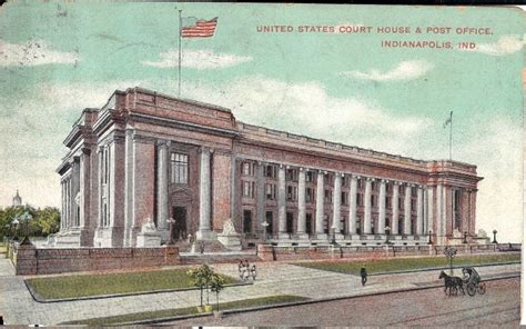 Post Office Downtown Indianapolis by The Courtroom Where Quot Got Served Quot Historic