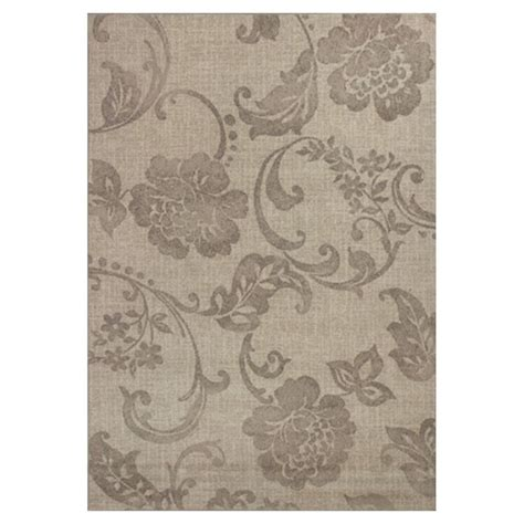 shop kas rugs floral trends ivory rectangular indoor shop kas rugs gorgeous transitions ivory rectangular