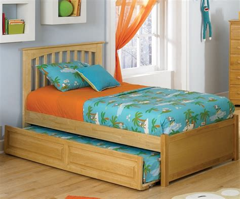 twin size kids bed brooklyn twin size trundle bed natural maple bedroom
