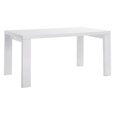 white dining table for 6 asper 6 seat white high gloss dining table buy now at