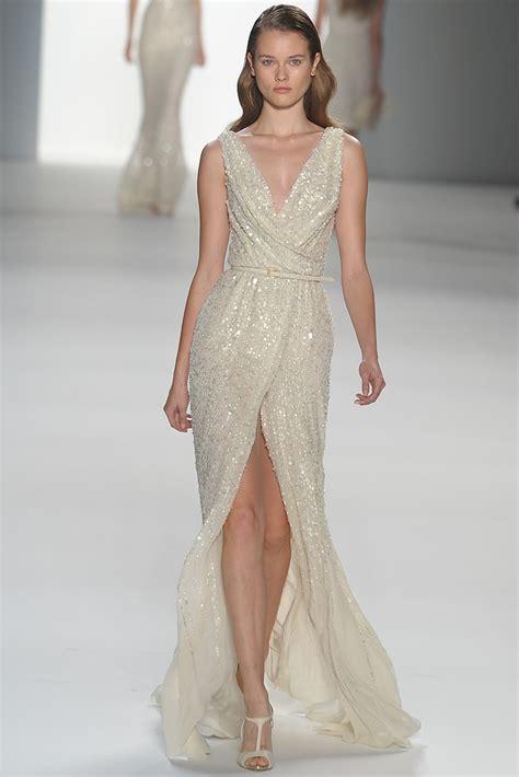 elie saab beaded dress cowl neck beaded wedding dress by elie saab onewed