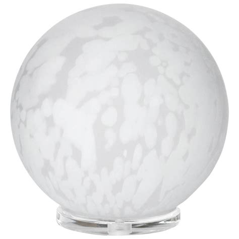 Glass Sphere Table L by Mottled Murano Glass Sphere Lucite Table L At 1stdibs