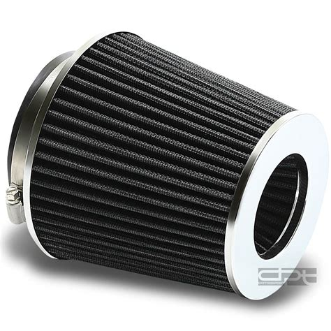Intake Open Air Filter Universal Diameter Inlet 3inch 4 quot 6 75 quot h cold ram intake cone black air filter 3 quot 3 5 quot reducer ebay