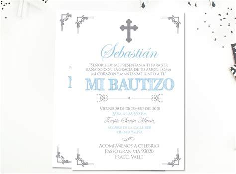 Invitaciones De Bautizo Para Nino by Invitaciones De Bautizo Invitacion Bautizo Azul Y Plata Bautizo Chico Bautizo Bebe