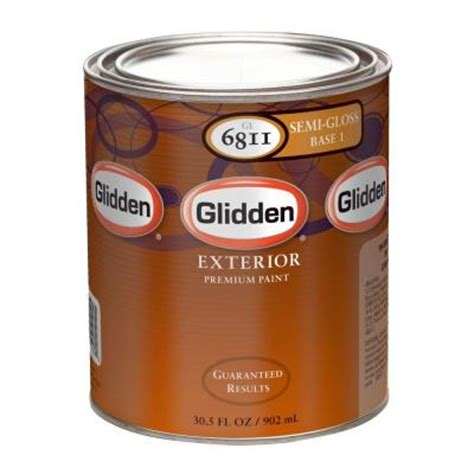 home depot paint watery glidden premium 1 qt semi gloss water based acrylic