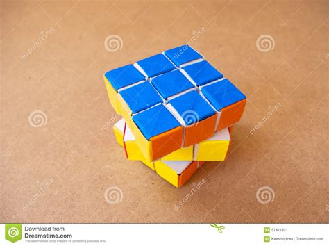 How To Make A Paper Rubik S Cube - puzzle rubik cube editorial photography image 57811827