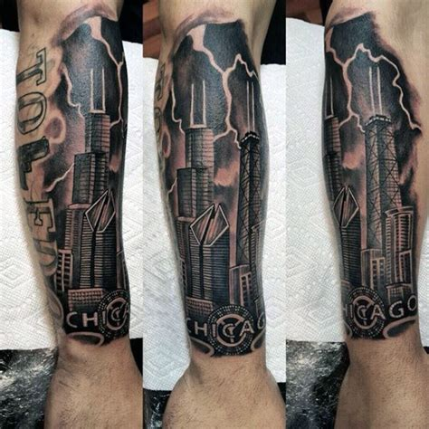architecture tattoo 20 chicago skyline designs for center ink