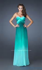 open back prom dress long strapless ombre gowns simply