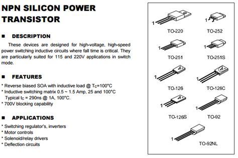 transistor h1061 transistor h1061 datasheet 28 images fy4aej 03 transistor h1061 b8h16 transistores censa c