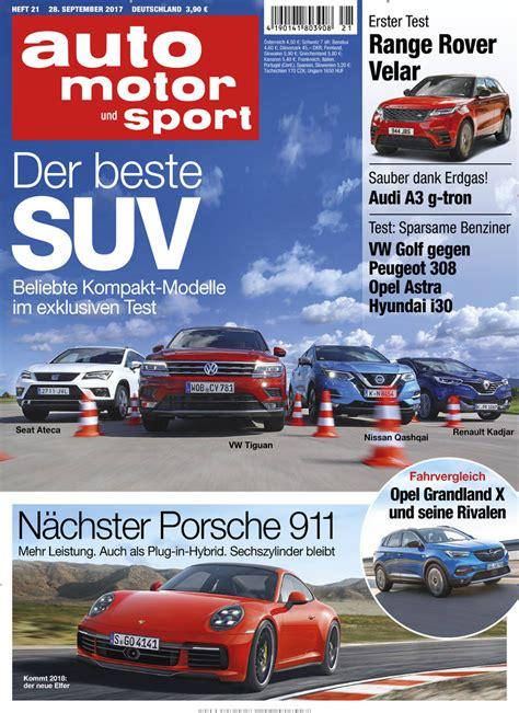 Abo Auto Motor Sport by Auto Motor Und Sport Abo Auto Motor Und Sport Probe Abo