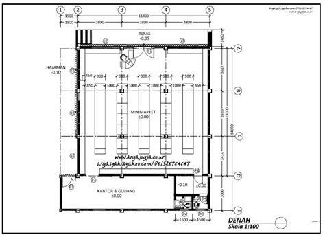 contoh gambar layout minimarket contoh gambar kerja dan desain contoh gambar kerja denah